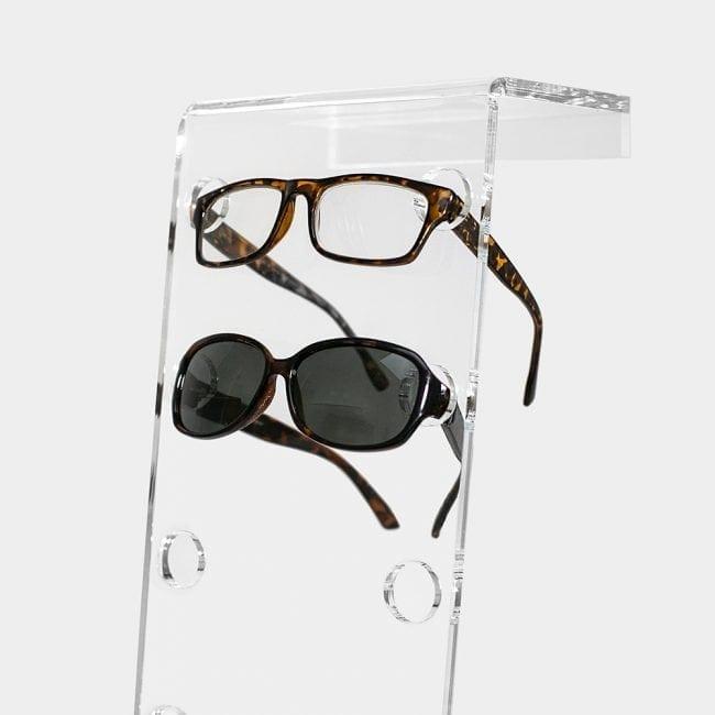 Acrylic eyeglass racks
