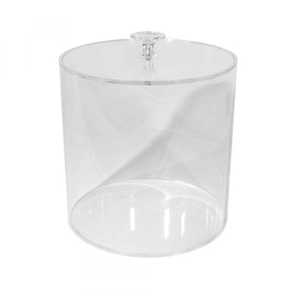 Cylinder container with lid