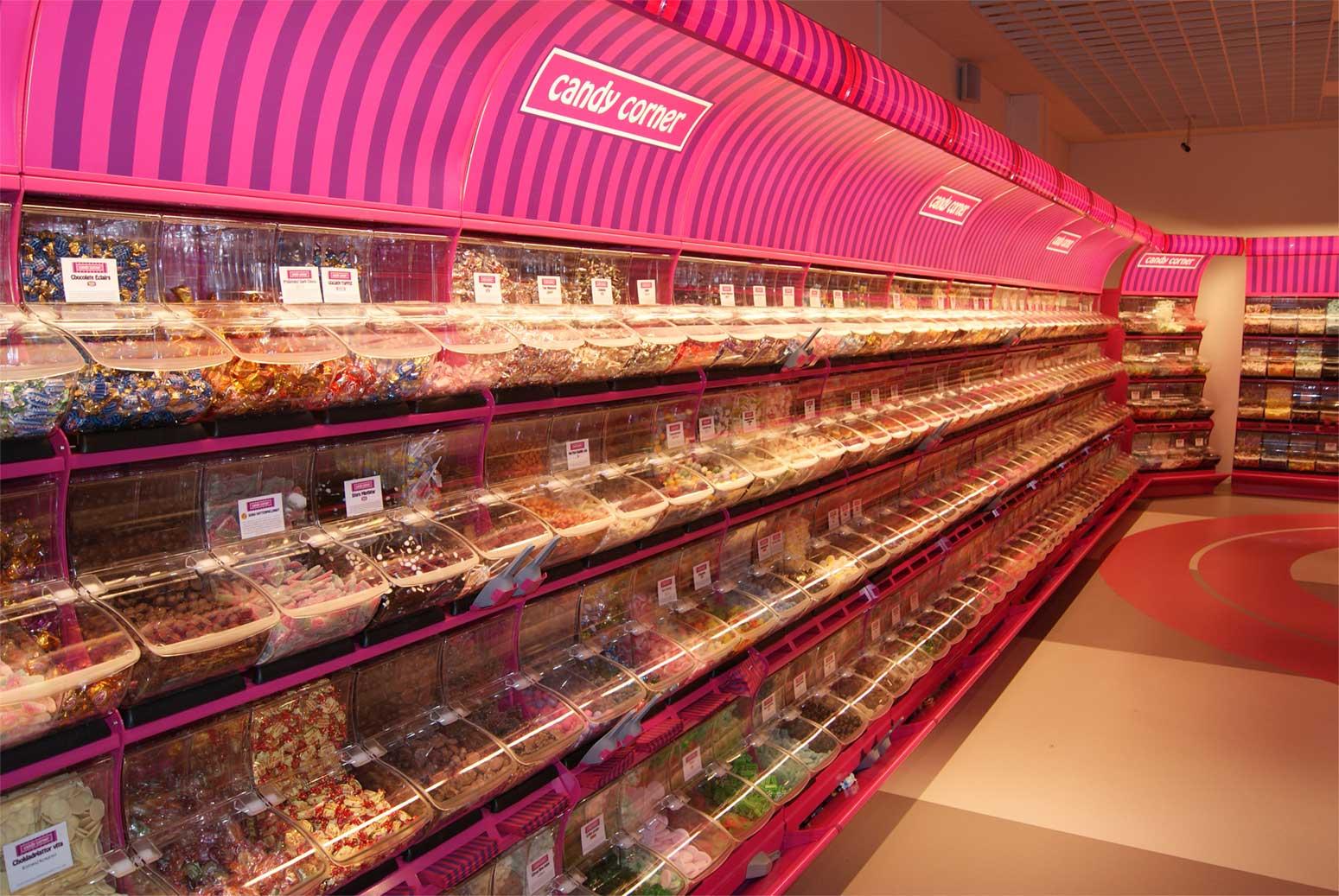 Butiksinredning för lösviktsgodis, Candy Corner