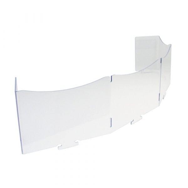 Shelf fronts for corner display