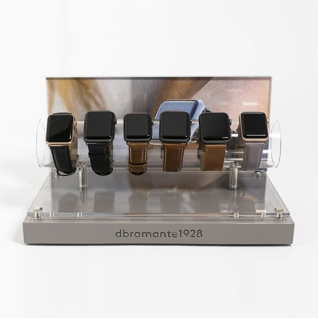 Display for Apple Watch leather straps
