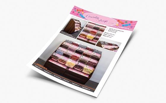 Candy Shop Concept flyer