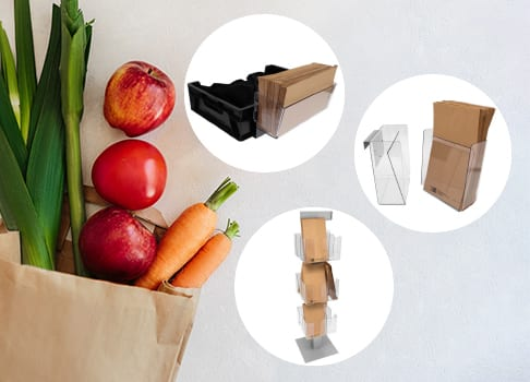 Paper bag holders for fruit and vegetables