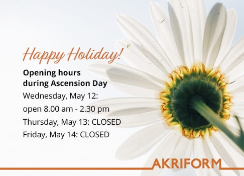 Opening hours during Ascension Day